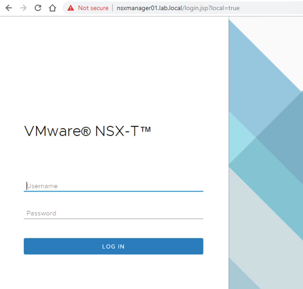 first nsx manager ui login