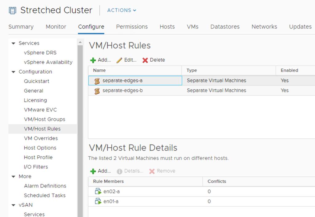 vm/host rule