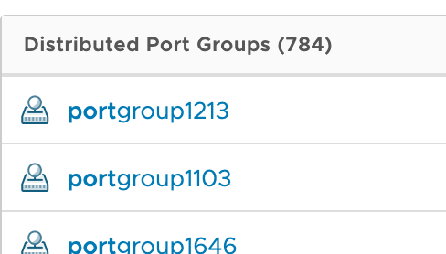 vds port groups