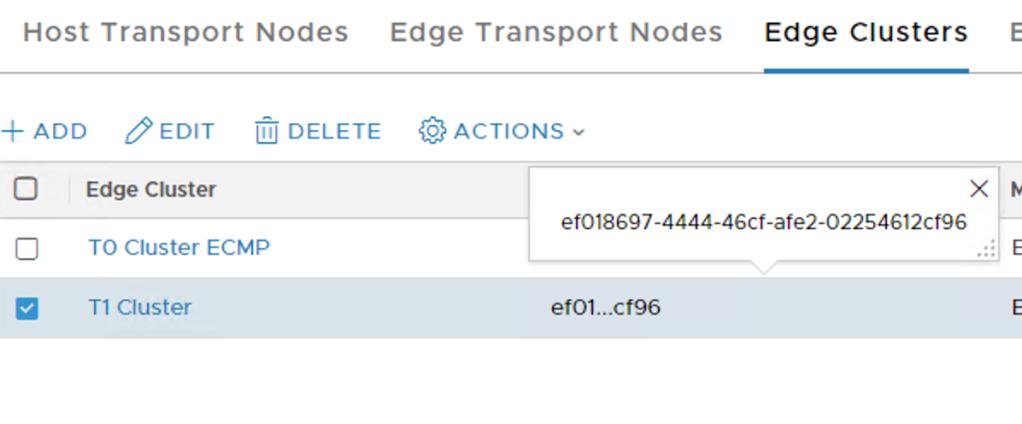 edge cluster id